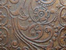 Dekorativ bild av teckningen av den orientaliska stilen på gammal guld Royaltyfria Foton