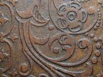 Dekorativ bild av teckningen av den orientaliska stilen på gammal guld Royaltyfri Bild