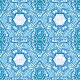 Dekorativ blå mandalamodell Arkivfoto