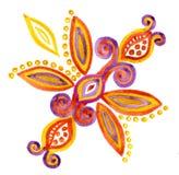 Dekorativ blom- beståndsdelvattenfärg Arkivbild