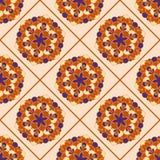 Dekorativ blom- mandalaillustration Arkivbilder