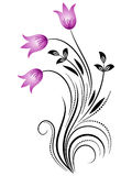 Dekorativ blom- prydnad Arkivbilder