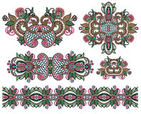Dekorativ blom- prydnad Royaltyfri Bild