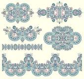 Dekorativ blom- prydnad för din design Fotografering för Bildbyråer