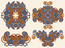 Dekorativ blom- prydnad fyra Arkivfoton