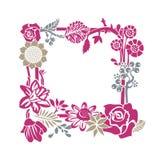 dekorativ blom- ram stock illustrationer