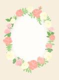 dekorativ blom- ram Royaltyfri Foto