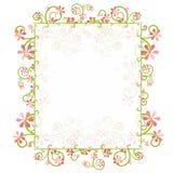 dekorativ blom- ramfjäder för kant Royaltyfri Foto