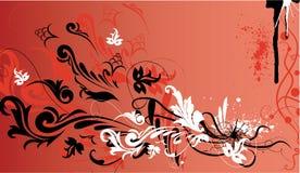 dekorativ blom- ramvektor royaltyfri illustrationer