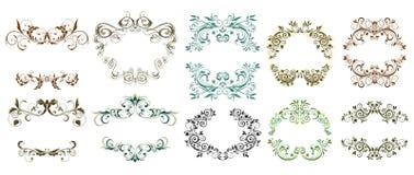 dekorativ blom- tappning för vektor för ramillustrationmodell Fotografering för Bildbyråer