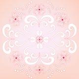 dekorativ blom- wallpaper Arkivfoto