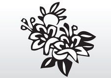 Dekorativ blommaillustration Royaltyfri Fotografi