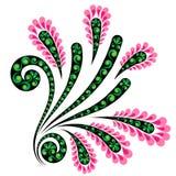 dekorativ blommaprydnad Arkivbilder