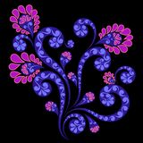 dekorativ blommaprydnad Royaltyfria Foton