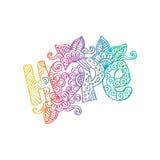 Dekorativ bokstäver för hopp vektor illustrationer