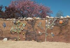 Dekorativ bostads- stuckaturvägg royaltyfri bild