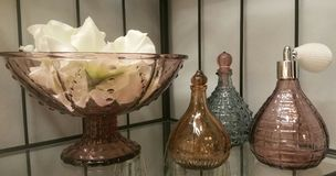 Dekorativ bruine glazen Royalty-vrije Stock Foto's