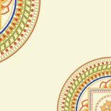 Dekorativ cirkelmall Fotografering för Bildbyråer