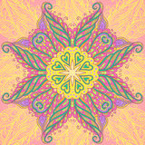 Dekorativ cirkelmandala Royaltyfri Bild