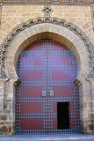 Dekorativ dörr i Marocko Royaltyfri Fotografi