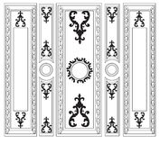 Dekorativ damast smyckade ramar för väggar eller bakgrunder Royaltyfri Bild