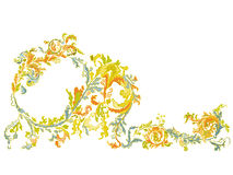 Dekorativ dekorativ blom- klassisk färg Royaltyfria Bilder