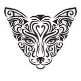 Dekorativ dekorativ kattkontur vektor illustrationer