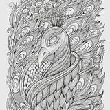 Dekorativ dekorativ påfågelbakgrund Royaltyfri Fotografi