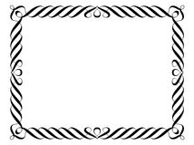 dekorativ dekorativ ram för calligraphy Arkivbild