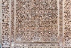 Dekorativ design av förgyllt rum (den Cuarto doradoen) på Alhambra G Royaltyfria Foton