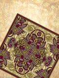 Dekorativ design för blommamatta på grunge Arkivbilder