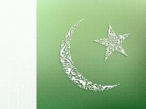 Dekorativ design för pakistansk flagga Royaltyfria Foton