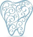 Dekorativ design för tand stock illustrationer