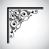 dekorativ designelementtappning Arkivbild