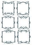 Dekorativ designgräns för tappning Royaltyfria Foton