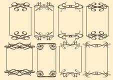 Dekorativ designgräns för tappning Arkivfoto