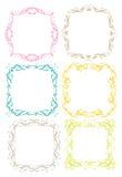 Dekorativ designgräns för tappning Royaltyfri Fotografi