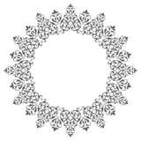 Dekorativ detaljerad rund ram Arkivfoton