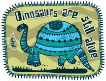 Dekorativ dinosaurie Fotografering för Bildbyråer