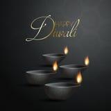 Dekorativ Diya lampbakgrund för Diwali Arkivbilder