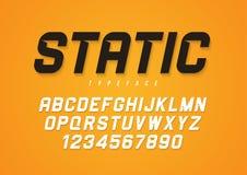 Dekorativ djärv kursiv stilsortsdesign för statisk vektor, alfabet, typ stock illustrationer