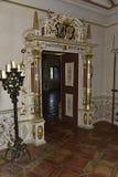 Dekorativ dörr i slotten Rabenstein, Bayern, södra Tyskland Royaltyfri Foto