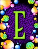 dekorativ e-bokstav Arkivfoton