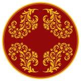 dekorativ elementmodell för cirkel Royaltyfri Foto