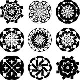 dekorativ elementset Arkivfoton
