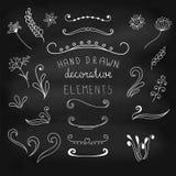 dekorativ elementset Enkla vektorobjekt Stock Illustrationer