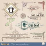 dekorativ elementtappning vektor illustrationer