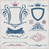 dekorativ elementtext vektor illustrationer