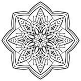 Dekorativ enkel mandala Royaltyfri Foto
