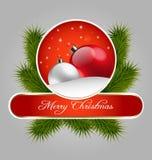 Dekorativ etikett för jul Royaltyfria Bilder